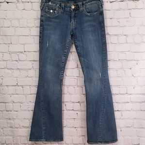 True Religion Distressed Retro Joey Flare Jeans 29